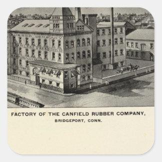 Canfield Rubber Co Square Sticker