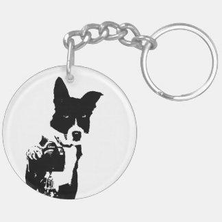 Canine Photographer Double-Sided Round Acrylic Key Ring