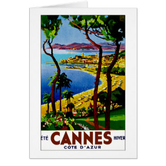 Cannes ~ Cote d'Azur Greeting Card