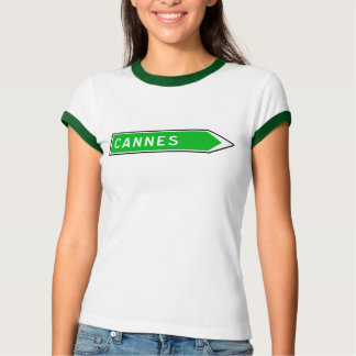 Cannes, Road Sign, France T-Shirt