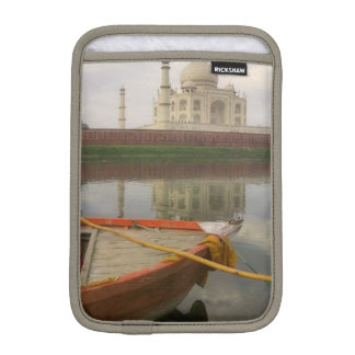 Canoe in water with Taj Mahal, Agra, India iPad Mini Sleeve