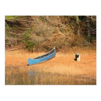 Canoe on a Pond Postcard