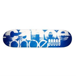 Canoe; Royal Blue Stripes Skate Board Decks
