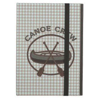 Canoe Sports Logo on Herringbone iPad Air Covers
