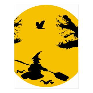 Canoe witch postcard