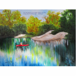Canoeing Down the Withlacoochee River Standing Photo Sculpture