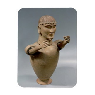 Canopic jar with moveable arms (clay) rectangular photo magnet