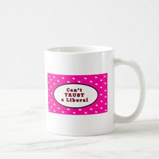 Can't TRUST a Liberal Magenta Stars The MUSEUM Zaz Coffee Mug