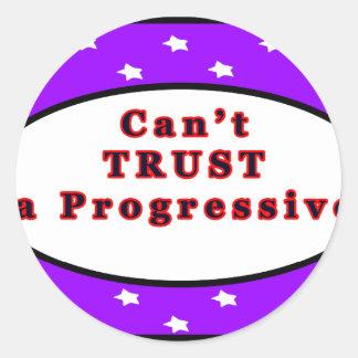Can't TRUST a Progressive Purple Stars The MUSEUM Stickers