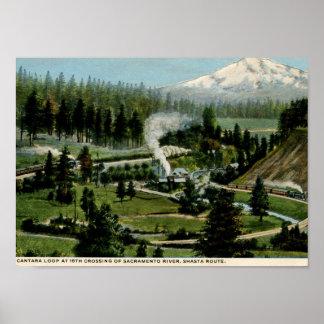 Cantara Loop, Shasta Train Route Vintage Poster