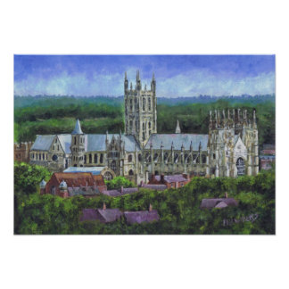 Canterbury Cathedral from a distance Print