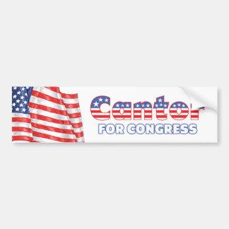 Cantor for Congress Patriotic American Flag Bumper Sticker