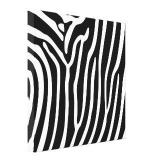 Canvas Black White Zebra Stripe Animal Print (2)