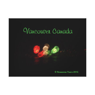 CANVAS - FIREWORKS-MIXED GREEN, VANCOUVER CANADA STRETCHED CANVAS PRINTS