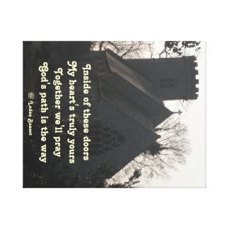 Canvas Print Poem Ode To Pray By Ladee Basset