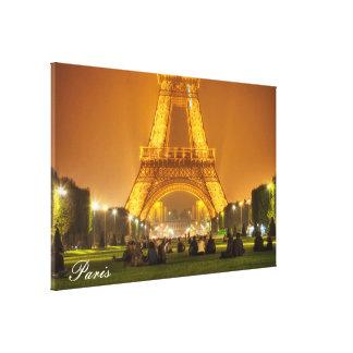 Canvas Print   The Eiffel Tower at Night   Paris