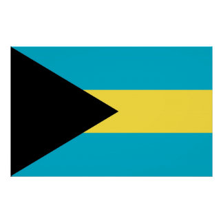 Canvas Print with Flag of Bahamas