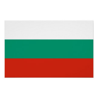 Canvas Print with Flag of Bulgaria