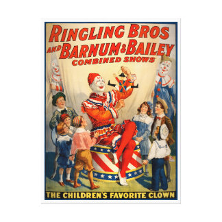 Canvas Vintage Circus Poster Canvas Print