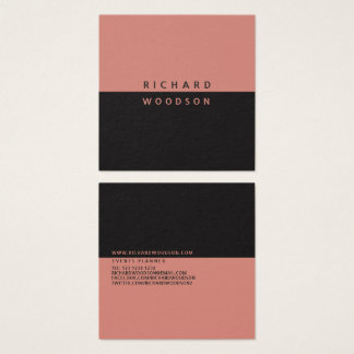 Canyon Clay Elegant Minimal Modern Professional Square Business Card