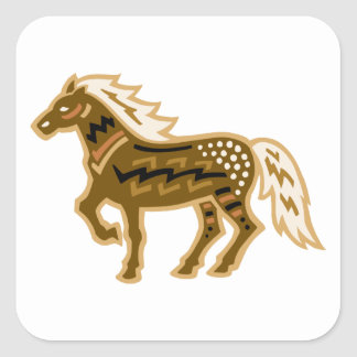 Canyonlands Horse Square Sticker