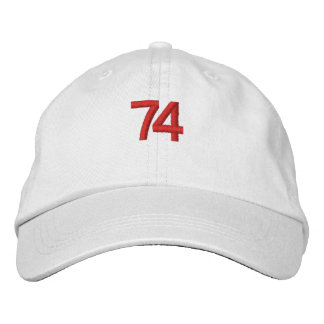 Cap of the 74 embroidered hats