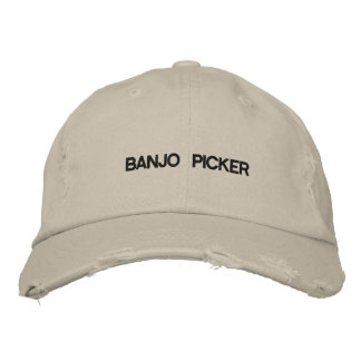 Cap with BANJO PICKER on the front. Baseball Cap