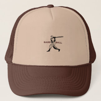 Cap With Classic Baseball Player