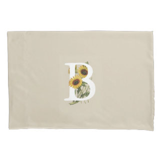 Cape Daisy B Monogram Pillow Case