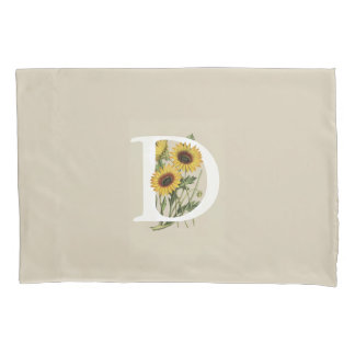 Cape Daisy D Monogram Pillow Case
