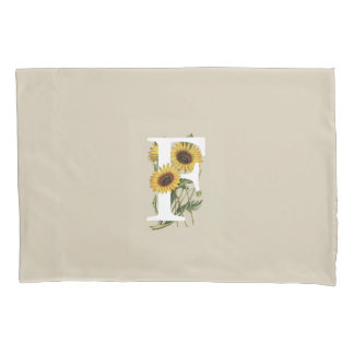 Cape Daisy F Monogram Pillow Case