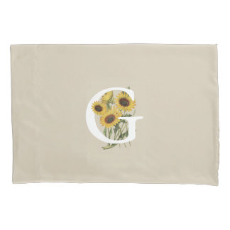 Cape Daisy G Monogram Pillow Case