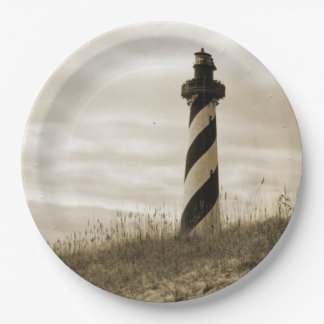 Cape Hatteras Lighthouse 9 Inch Paper Plate