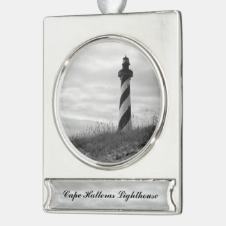 Cape Hatteras Lighthouse Silver Plated Banner Ornament