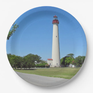 Cape May Lighthouse 9 Inch Paper Plate