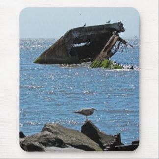Cape May Shipwreck Mouse Pad