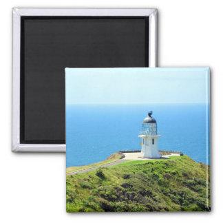 Cape Reinga Lighthouse, New Zealand Square Magnet