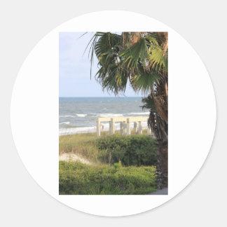 Cape San Blas Ocean Sea Mermaid Salt   Classic Round Sticker