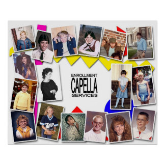 Capella Enrollment Services 80 s Party Posters
