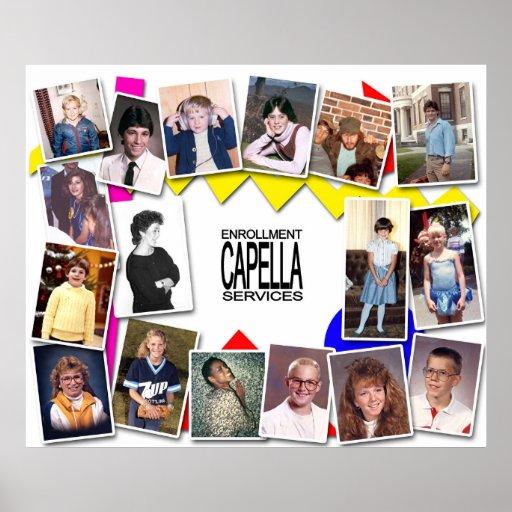 Capella Enrollment Services 80's Party Posters