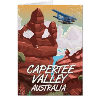 Capertee Valley Australia travel poster Card
