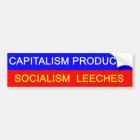 Capitalism vs Socialism Bumper Sticker