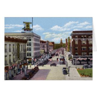 Capitol Avenue in Cheyenne Wyoming Circa 1940 Card
