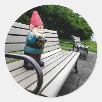 Capitol Park Gnome Round Sticker
