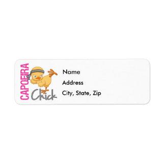 Capoeira Chick Return Address Label