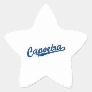 Capoeira in blue star sticker