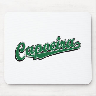 Capoeira in green fancy mouse pad