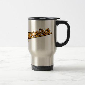 Capoeira in orange travel mug