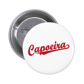 Capoeira in red 6 cm round badge