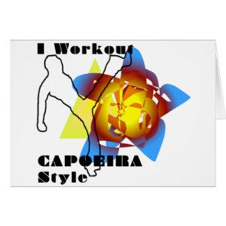 capoeira love birthday card
